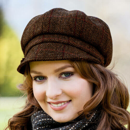 Ladies Baker Boy Wool Cap